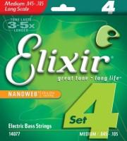 Струны Elixir Bass Nanoweb 45-105