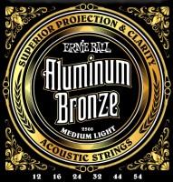 Фото - Струны Ernie Ball Aluminum Bronze 12-54