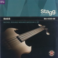 Фото - Струны Stagg Bass Nickel-Round 5-String 45-125