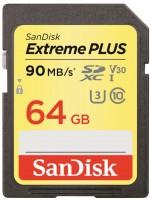 Фото - Карта памяти SanDisk Extreme Plus V30 SDXC UHS-I U3 64Gb