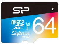 Фото - Карта памяти Silicon Power Superior Pro Color microSDXC UHS-I Class 10 64Gb
