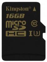 Карта памяти Kingston Gold microSDHC UHS-I U3 16Gb