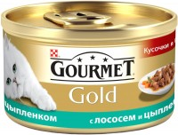 Фото - Корм для кошек Gourmet Packaging Gold Canned with Salmon/Chicken 0.085 kg
