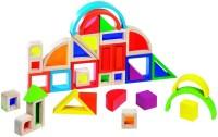 Конструктор Goki Rainbow Building Bricks with Windows 58620