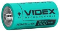 Аккумуляторная батарейка Videx 1x16340 800 mAh