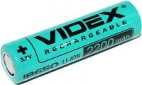 Аккумуляторная батарейка Videx 1x18650 2200 mAh
