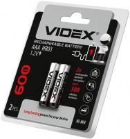 Аккумуляторная батарейка Videx 2xAAA 600 mAh