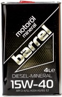 Моторное масло Barrel Diesel-Mineral 15W-40 4L