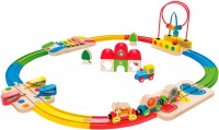 Автотрек / железная дорога Hape Rainbow Route Railway and Station Set E3816