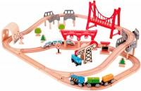 Автотрек / железная дорога Hape Double Loop Railway Set E3712