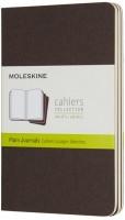 Блокнот Moleskine Set of 3 Plain Cahier Journals Pocket Brown