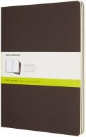 Блокнот Moleskine Set of 3 Plain Cahier Journals XLarge Brown