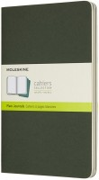 Блокнот Moleskine Set of 3 Plain Cahier Journals Large Green