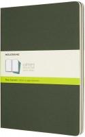 Блокнот Moleskine Set of 3 Plain Cahier Journals XLarge Green