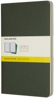 Блокнот Moleskine Set of 3 Squared Cahier Journals Large Green