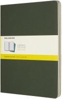 Блокнот Moleskine Set of 3 Squared Cahier Journals XLarge Green