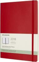 Ежедневник Moleskine Weekly Planner Soft Large Red