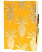 Ежедневник inTempo Tropical Gold Pineapples Yellow