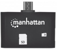 Картридер/USB-хаб MANHATTAN imPORT SD