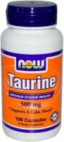 Фото - Аминокислоты Now Taurine 500 mg 100 cap