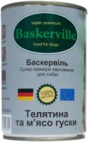 Корм для собак Baskerville Dog Canned with Veal/Goose 0.8 kg