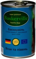 Корм для собак Baskerville Dog Canned with Lamb/Cock 0.4 kg
