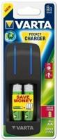 Зарядка аккумуляторных батареек Varta Pocket Charger + 4xAA 1600 mAh
