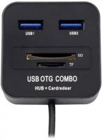 Картридер/USB-хаб Lapara LA-MicroUSB-OTG-HUB-CR