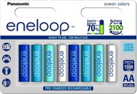 Аккумуляторная батарейка Panasonic Eneloop Ocean 8xAA 1900 mAh