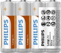 Аккумуляторная батарейка Philips LongLife 4xAA