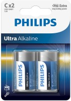 Аккумуляторная батарейка Philips Ultra Alkaline 2xC