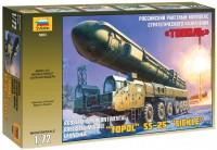 Сборная модель Zvezda Ballistic Missile Launcher Topol SS-25 Sickle (1:72)