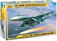 Сборная модель Zvezda Superiority Fighter SU-27SM Flanker B mod. 1 (1:72)