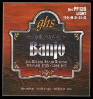 Струны GHS Banjo Stainless Steel 11-42