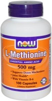 Фото - Аминокислоты Now L-Methionine 500 mg 100 cap