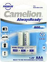 Аккумуляторная батарейка Camelion Always Ready 2xAAA 800 mAh