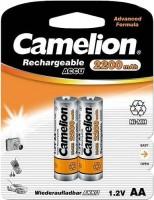 Аккумуляторная батарейка Camelion 2xAA 2200 mAh