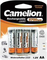 Аккумуляторная батарейка Camelion 4xAA 2700 mAh