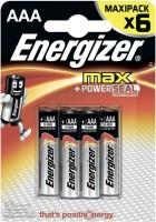 Аккумуляторная батарейка Energizer Max 6xAAA