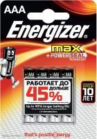 Аккумуляторная батарейка Energizer Max 4xAAA