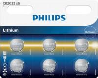 Фото - Аккумуляторная батарейка Philips 6xCR2032