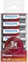 Фото - Аккумуляторная батарейка Philips Power Alkaline 20xAA