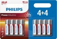 Фото - Аккумуляторная батарейка Philips Power Alkaline 8xAA