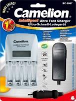 Зарядка аккумуляторных батареек Camelion BC-0907 + 4xAA 2700 mAh