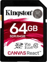 Карта памяти Kingston SDXC Canvas React 64Gb