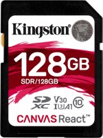Фото - Карта памяти Kingston SDXC Canvas React 128Gb