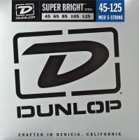 Струны Dunlop Super Bright 5-String Steel Bass 45-125