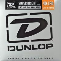 Струны Dunlop Super Bright 5-String Steel Bass 40-120