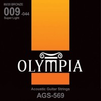 Струны Olympia 80/20 Bronze Super Light 9-44