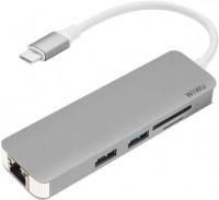 Картридер/USB-хаб WiWU USB-C Type Dock T4